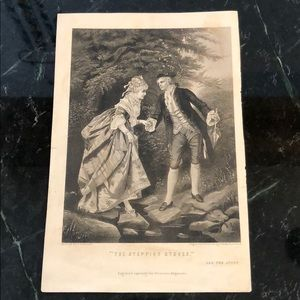 """The Stepping Stones - 9"""" x 6"""" - Antique Engraving"""